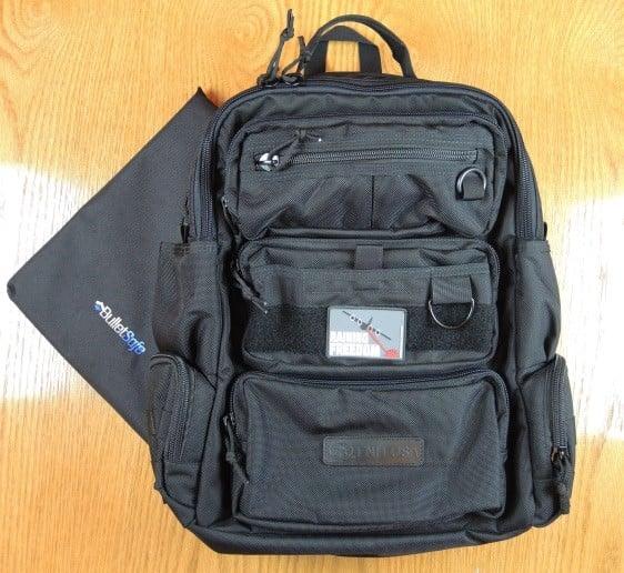 FNH Concealed Carry Backpack with BulletSafe Bulletproof Backpack Panel