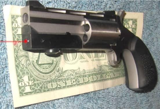 NAA Black Widow Mini-Revolver in .22WMR with Venom Laser Sight & Rubber Cobblestone Grips
