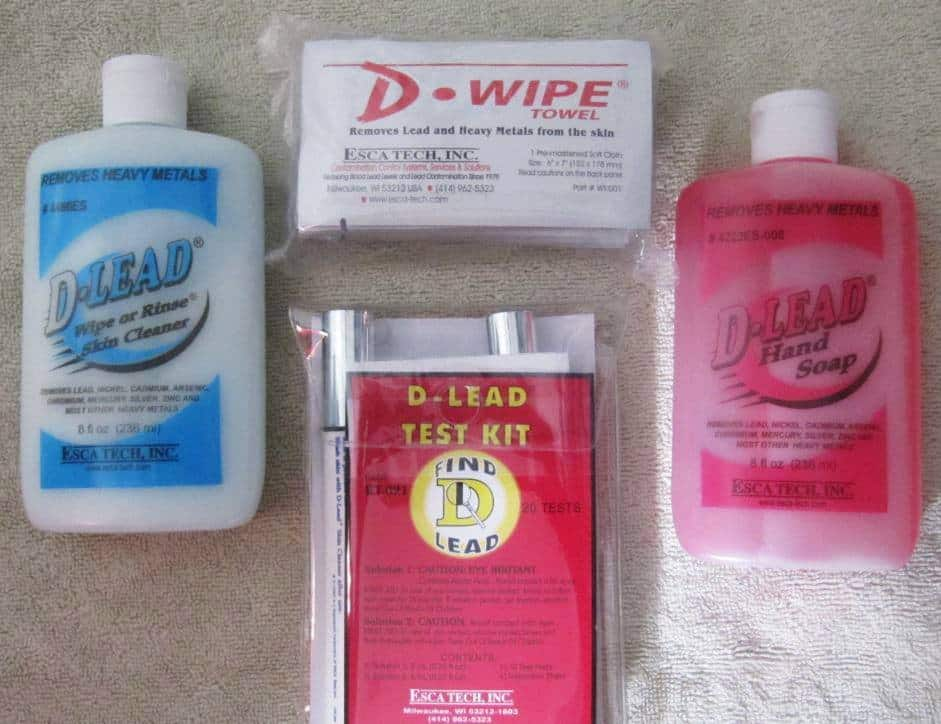 D-Lead Towel-Hand Soap-Test Kit-Skin Cleaner Rinse