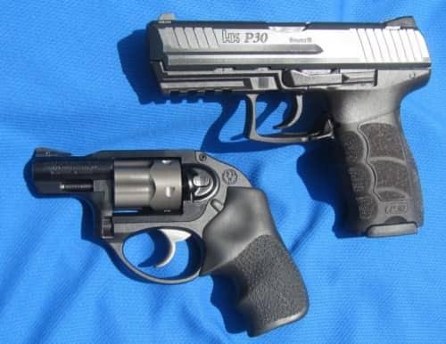 H&K P30 Light LEM V1 DAO (Hammer) 9mm; Ruger LCR .38 Special DAO (Shrouded)