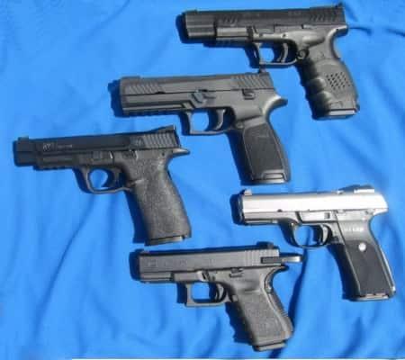 Striker-Fired: Springfield XDm; Sig P320; S&W M&P; Ruger SR9; Glock 19
