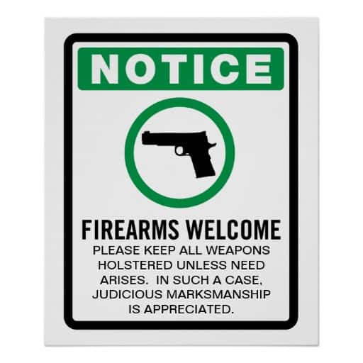 Concealed Carry Firearms Welcome