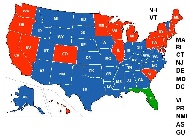 Florida Concealed Carry Reciprocity Map Concealed Carry Permit Reciprocity Maps (Updated Jan. 19, 2019) Florida Concealed Carry Reciprocity Map
