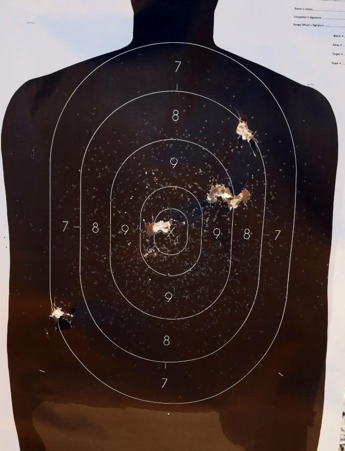 Beretta 1301 Tactical Shotgun - Target Round Patterning
