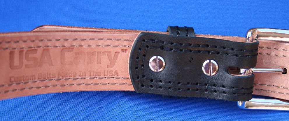 Custom Made USA Leather Gun Belt with Chicago Screws for a Reasonable Price