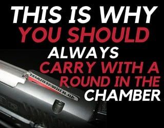 This is Why You Should Always Carry with a Round in the Chamber [Graphic Content]