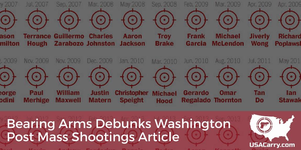 Bearing Arms Debunks Washington Post Mass Shootings Article