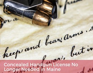 Concealed handgun license no longer needed in maine usa for Maine non resident fishing license