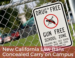 New California Law Bans Concealed Carry on Campus