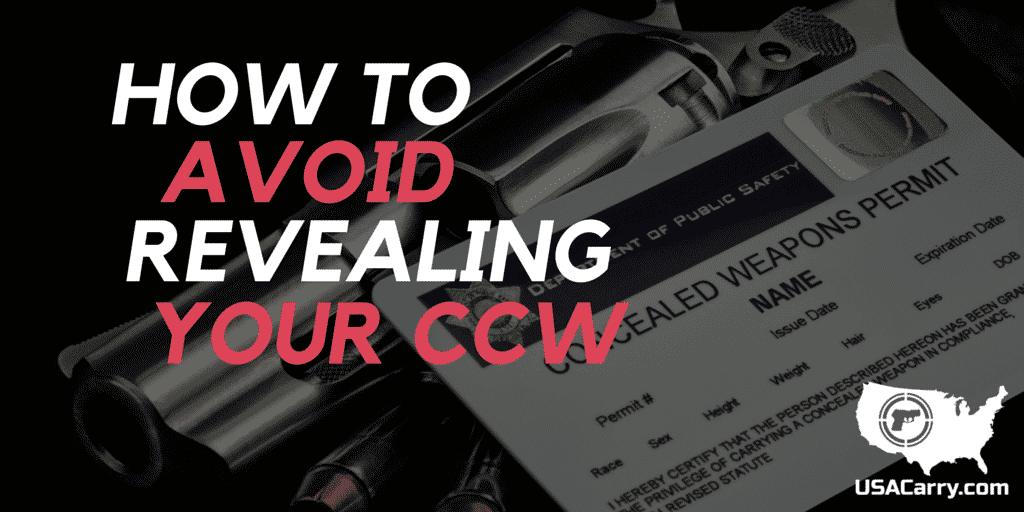 Don't Tip Your Hand: How to Avoid Revealing Your CCW
