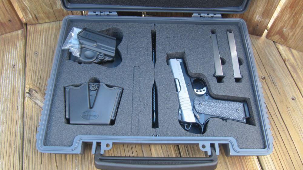 The Springfield EMP lockable hard case includes 3 magazines, holster, dual magazine carrier, and more
