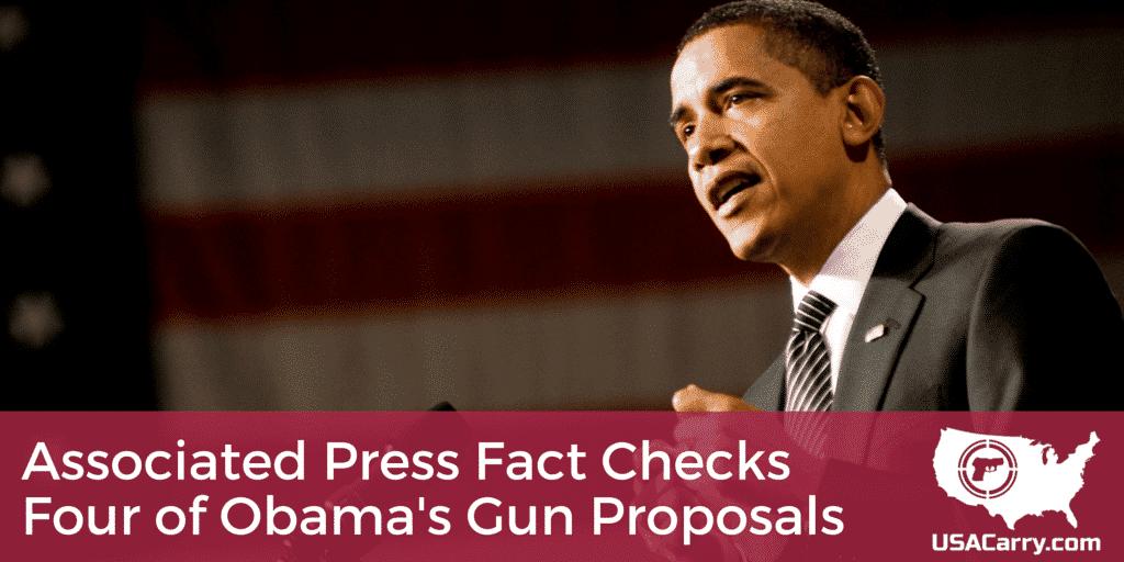 Associated Press Fact Checks Four of Obama's Gun Proposals