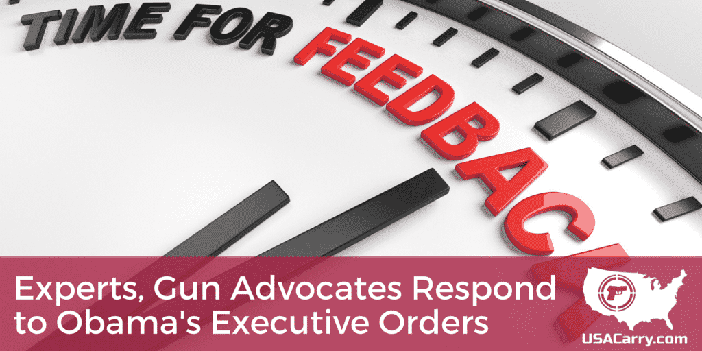 Experts, Gun Advocates Respond to Obama's Executive Orders