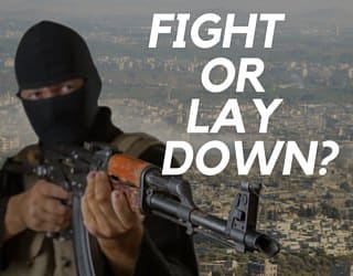 Fight or Lay Down? [EDITORIAL]
