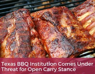 Texas BBQ Institution Comes Under Threat for Open Carry Stance