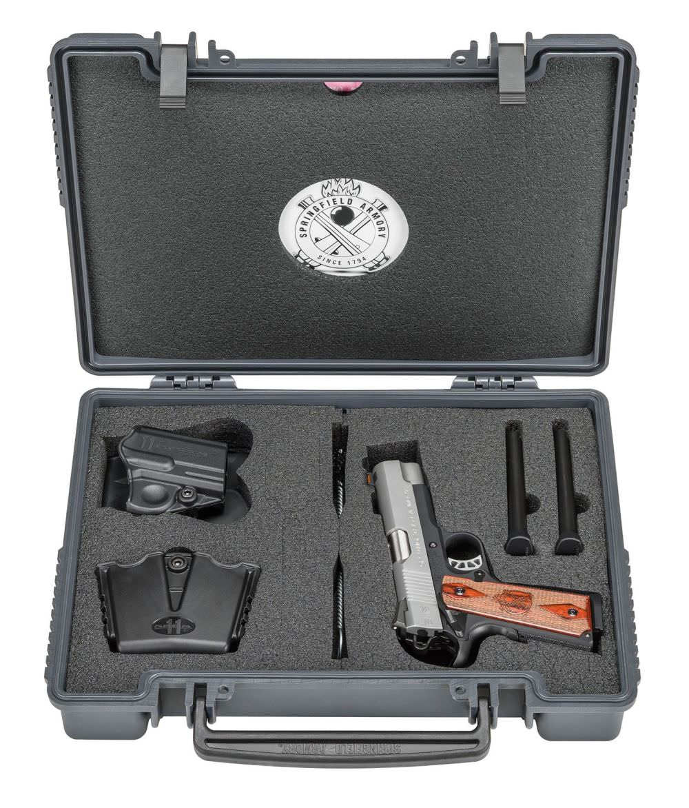 The Springfield EMP4 lockable hard Case includes 3 magazines, holster, dual magazine carrier, lock, and more.