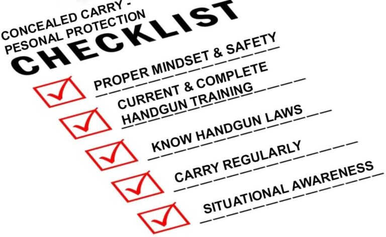 Personal Protection and Your Concealed Carry Checklist