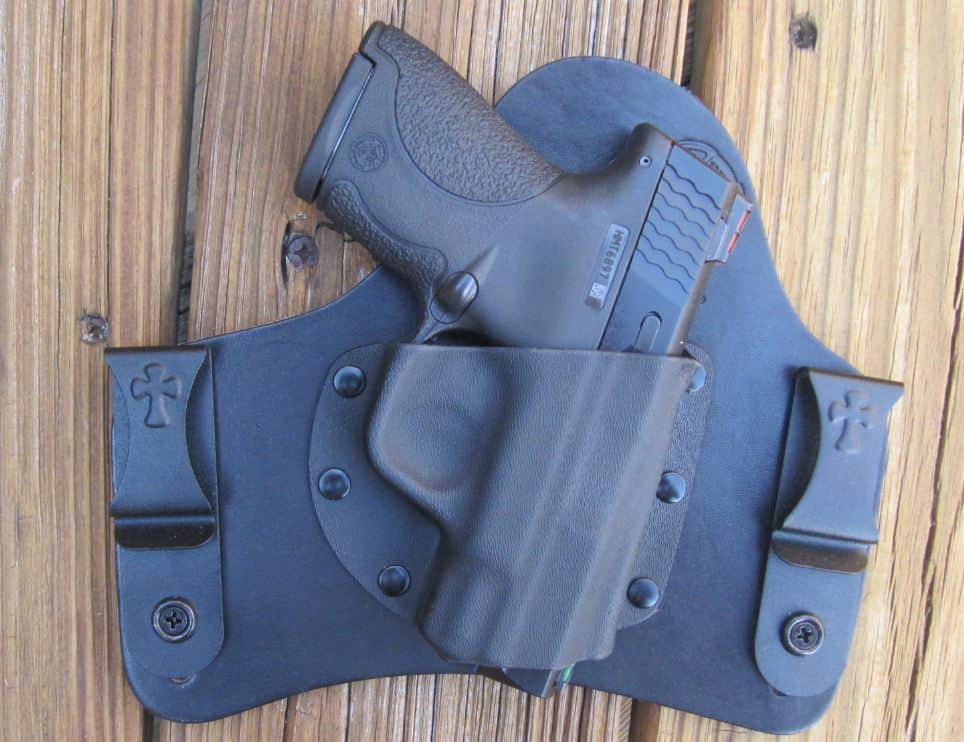 CrossBreed SuperTuck IWB Hybrid (Leather-Kydex) Holster with SW Shield- Ported 9mm