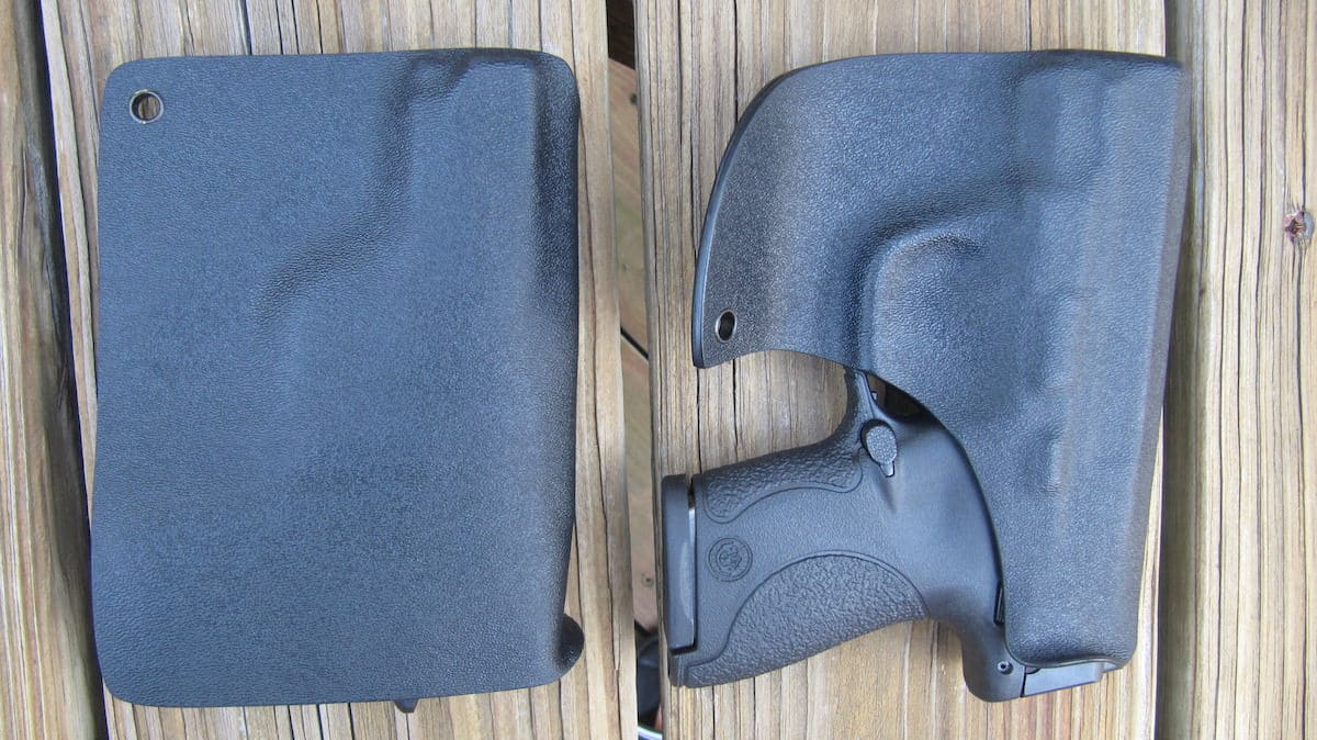 Back Views- Alabama Holster Company Pocket Holsters- Rear on Left & Front on Right