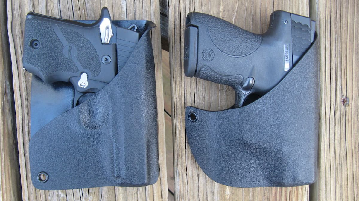Alabama Holster's Front Pocket Carry holster (right) & Rear-Wallet Pocket Holsters