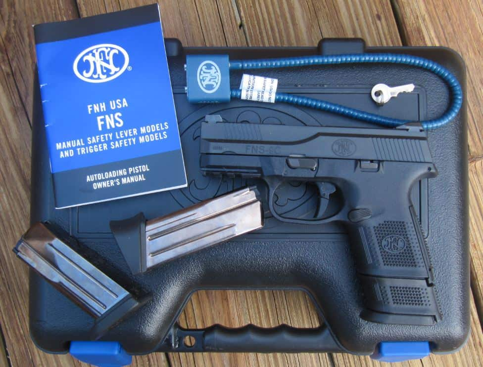 FNS-9C 9mm in Hard Case with 3 magazines, lock, instruction manual
