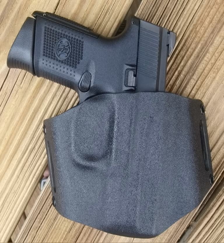Alabama Holster's Kydex OWB Flapjack Pancake Holster for FNS-9C