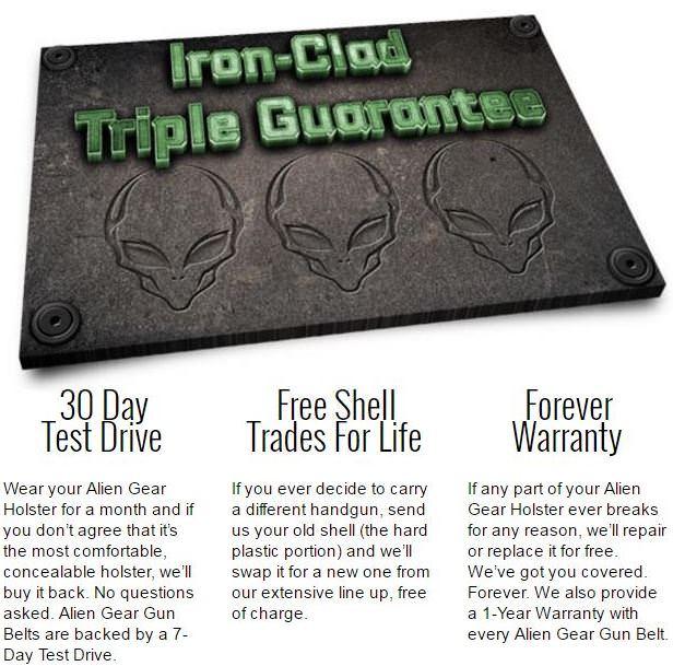 Alien Gear Iron-Clad Triple Guarantee