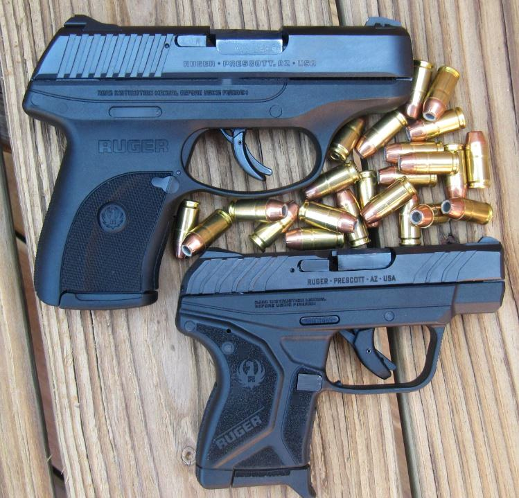 Comparison of LC9S 9mm (top) with LCP II .380
