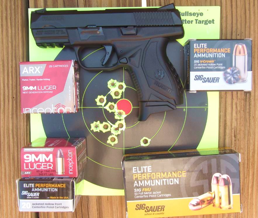 Ruger American Compact Pistol- First 12 Hits Rapid Fire at 5 Yards