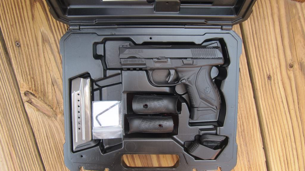 Ruger American Compact 9mm with Hard Case, Lock, Manual, 2 Magazines, Backstraps & Wrench