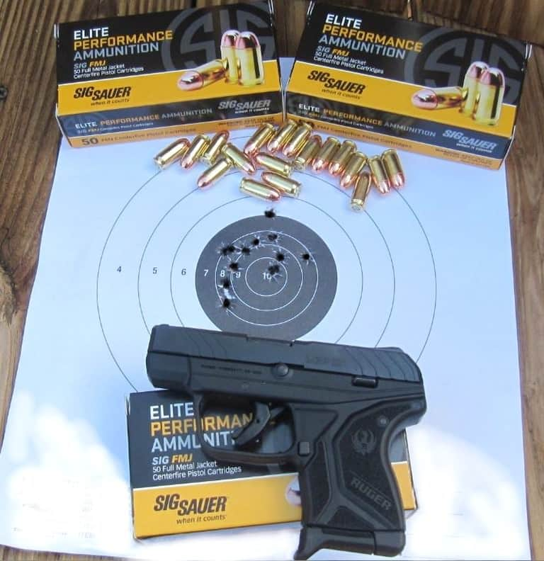 Ruger LCP II Target Hits at 5 Yards with Sig Sauer Elite Performance Ammo