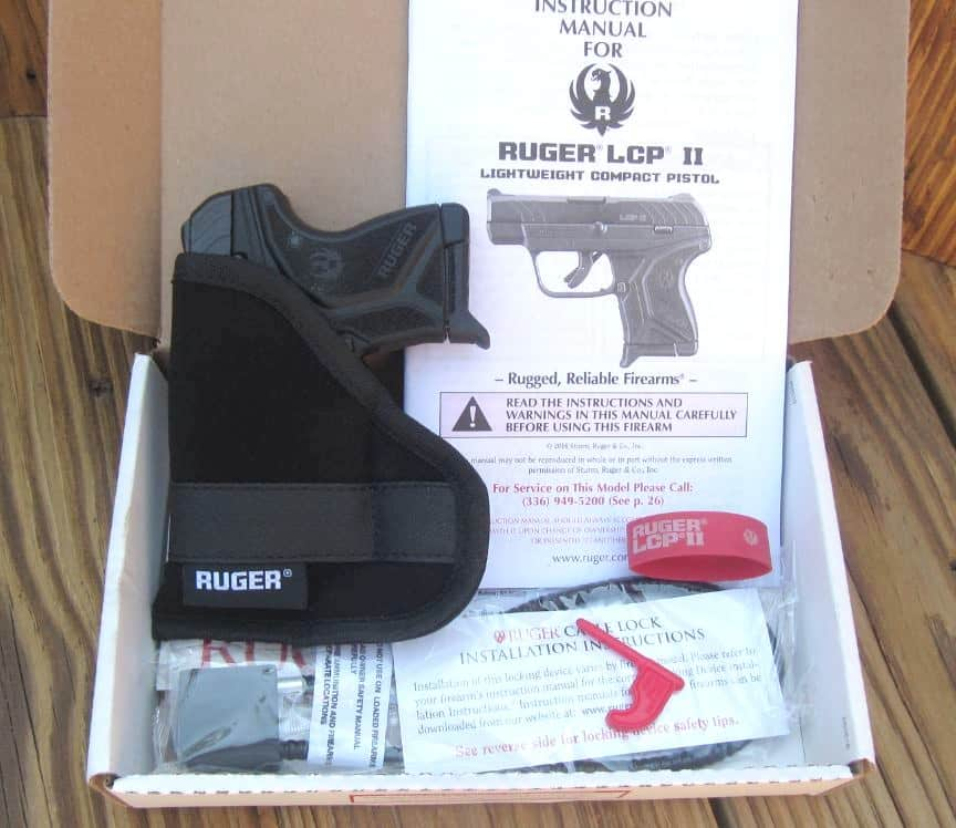 Ruger LCP II .380 ACP Pistol in Box with Pocket Holster, Lock, Manual, 1 Magazine, & Bore Flag
