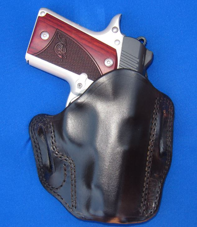Kramer Leather Holster's OWB Leather Pancake Belt Scabbard for Kimber Micro 9