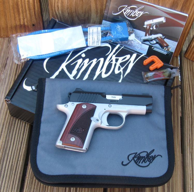 Kimber Micro 9 Two-Tone with Box, Soft Case, Lock, Manual, 1 Magazine, Bore Flag, & Lubricant Sample
