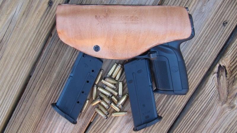 FN 5.7 Pistol Leather-Hybrid Holster by Clinger Holsters