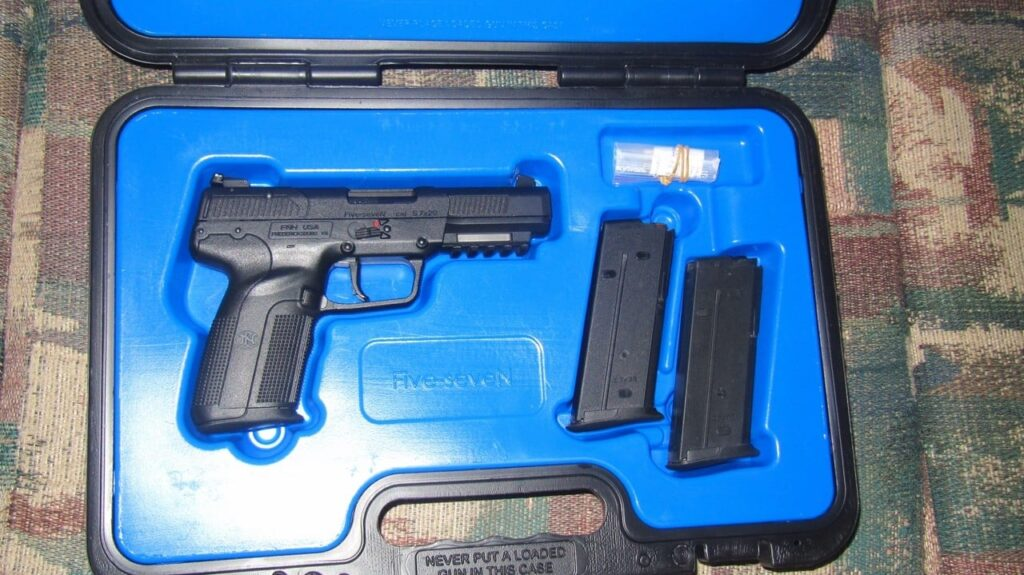 FN 5.7 in Hard Case with 3 Magazines, Lock, Manual, and Wrench