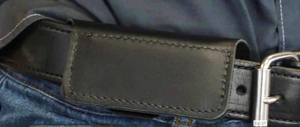 "4"" Wide Leather Flap of UCG2 as Seen on Gunbelt"