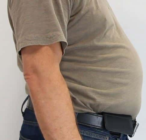 Leather Flap on Outside of Belt- All Body Shapes & Sizes May Use the G2 Holster
