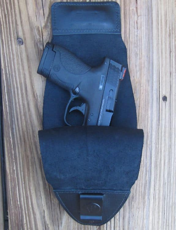 M&P Shield Partially Drawn Out of G2 Holster