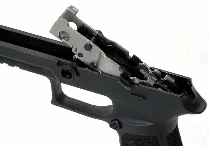 The P320's Modular Trigger Assembly Is Easily Changeable Between Frames