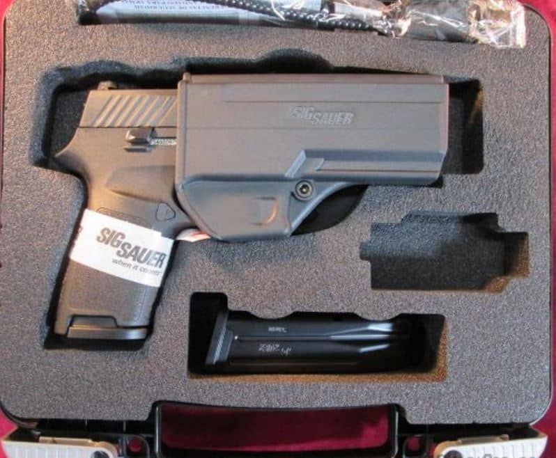 Sig P320 Compact 9mm in Hardcase with 2 Mags, Holster, Lock & Manual