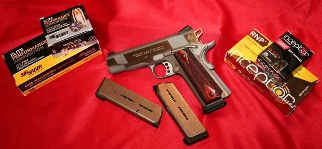 Colt 1911 .45 Commander with Wilson Combat Mags and Sig Sauer and Polycase Ammo