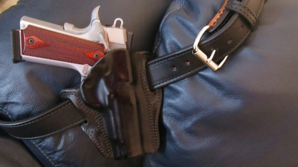 Colt 1911 XSE in Kramer Leather Holster with Big Foot Gun Belt