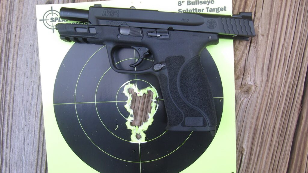 M&P M2.0 9mm Target Hits at 7 Yards with Federal Premium Hydra-Shok JHP & Sig V-Crown JHP Ammo