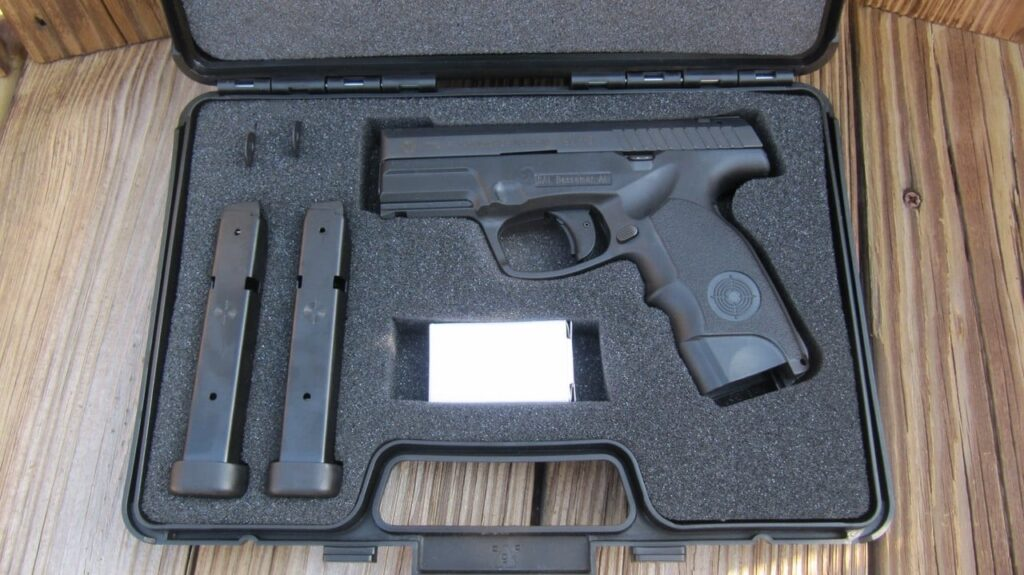 Steyr C9-A1 with 2 Mags, 2 Integrated Safety Lock Keys, & Lock in Hard Case