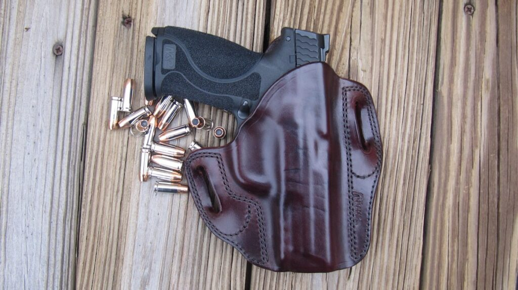 M&P M2.0 9mm in Kramer Leather Holster and Sig Sauer V-Crown JHPs and Federal Hydra-Shok JHPs
