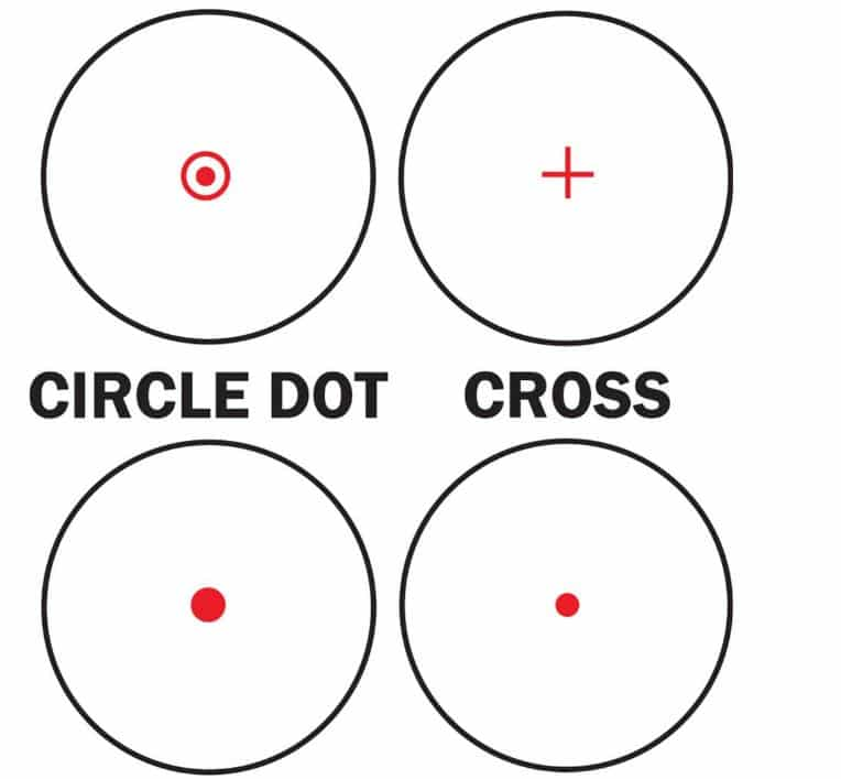 Types of Reticles-MOA Sizes