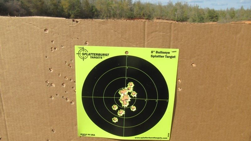 Sig Sauer 1911 C3 .45 Rapid Fire Target Hits with Mag Change at 7 Yards