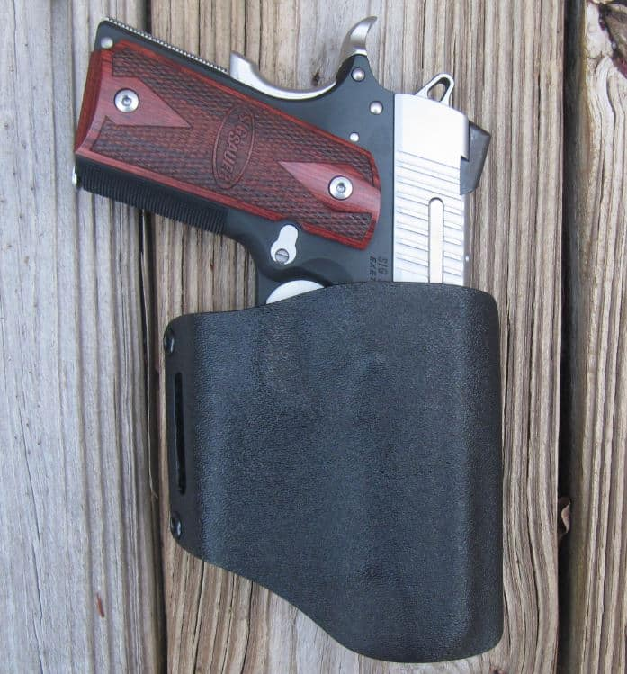 "Alabama Holster's OWB ""Flapjack"" Pancake Kydex Holster Rides High & Pulls Gun Very Close to Your Body"