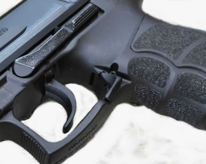 HK P30 Long Ambi Slide Stop, Ambi Paddle Mag Release Lever, & Grip Texturing